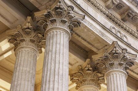 Colonna del vecchio tribunale della giustizia vintage