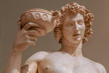 Portrait de statue de Dionysos Bacchus Wine Banque d'images