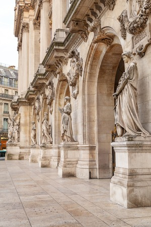 Paris, France, March 31, 2017: Opera National de Paris: Grand Opera Garnier Palace is famous neo-baroque building in Paris. The Palais is a 1,979-seat opera house, which was built from 1861 to 1875 報道画像