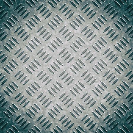 Metal diamond pattern non-skid gray wrap around texture seamless tile. Pattern style of steel floor for background. Pattern style of aluminum floor background and metallic texture Stok Fotoğraf