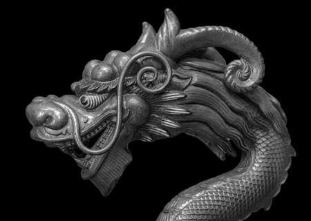 Dragon isolated on black background 版權商用圖片