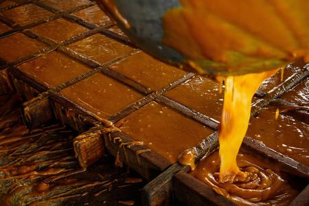 textura: Panela zucchero fatto in modo naturale in Colombia