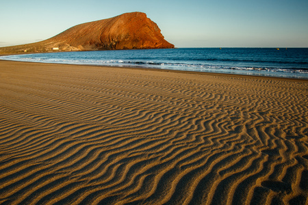 The Beach with Montana Roja hill in background, Tenerife