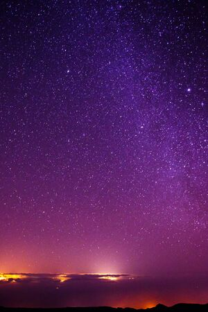 Stars at night sky from Pico del Teide, Tenerife