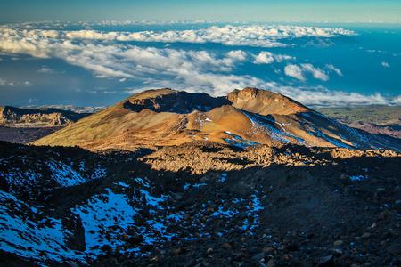 Pico Viejo volcano in the National park El Teide, Tenerife Stock Photo