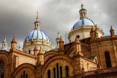 The Church of the Immaculate Conception in Cuenca, Ecuador