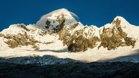 The Alpamayo Mounatin in Huascaran National park in Peru