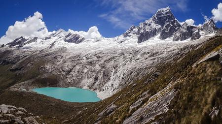 Famous view from Punta Union Pass, Huascaran NP Reklamní fotografie