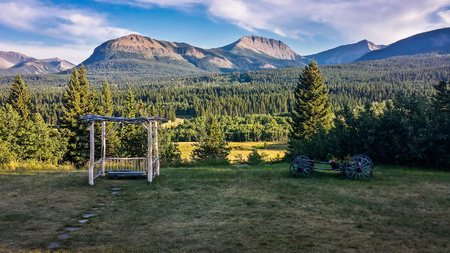 Ranch in Gladstone Valley, Southern Alberta, Canada Stock Photo