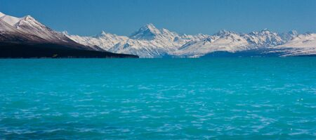 Pukaki Lake with Mt. Cook in background, New Zealand