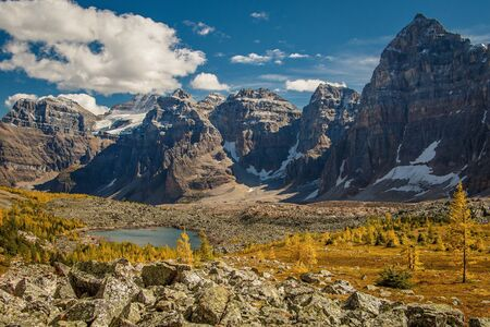 Valley of Eiffel lake in Banff national park, canada