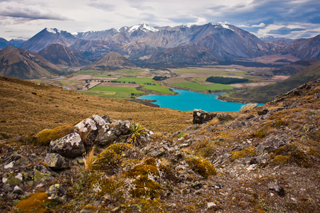 Lake Coleridge in Canterbury district of New zealand, hiking around Christchurch, beatiful zealandia nature