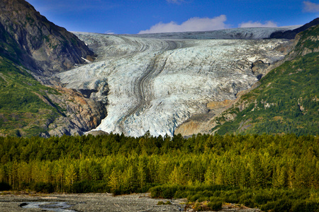 Exit glacier from Hrading icefield in Alaska, the most accessible glacier for tourists, hiking the glacier, alaskan adventure, far north vacation, travel to live, born to explor Reklamní fotografie