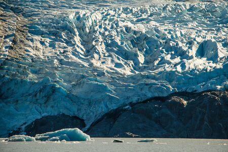 Columbia glacier close-up in Prince William Sound in Alaska, alaskan adventure road trip, north american glaciers, north water environment Reklamní fotografie - 126487453
