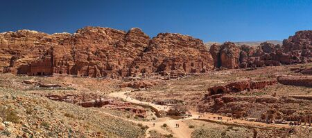 Panoramatic view of Red Rose city - Petra in Jordan