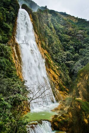 Chiflon waterfalls in Chiapas state of Mexico, touristic attraction of chiapas state Reklamní fotografie