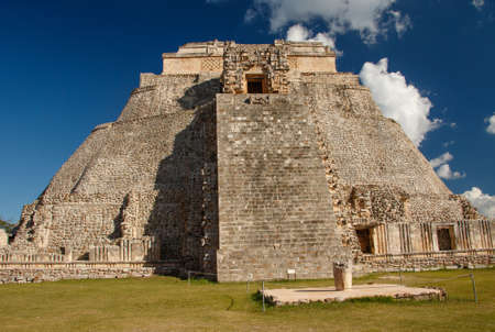 Uxmal historical mayan ruins near city of Merida, mexican vacation, backpacking in Mexico