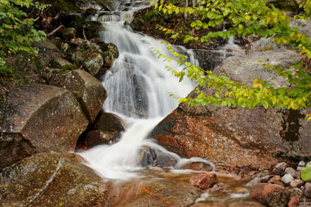 Little Waterfall near Lincoln town in New Hamsphire, US road trip, autumn time is the best 免版税图像