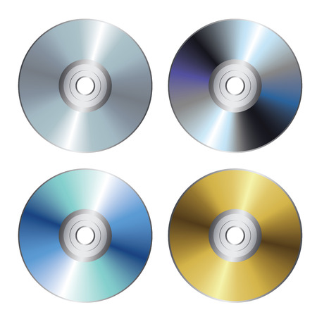 optical disk: Blue-ray, DVD, CD or disc illustration