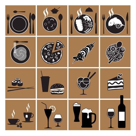 side dish: Restaurant menu design elements set. Vector illustration Illustration