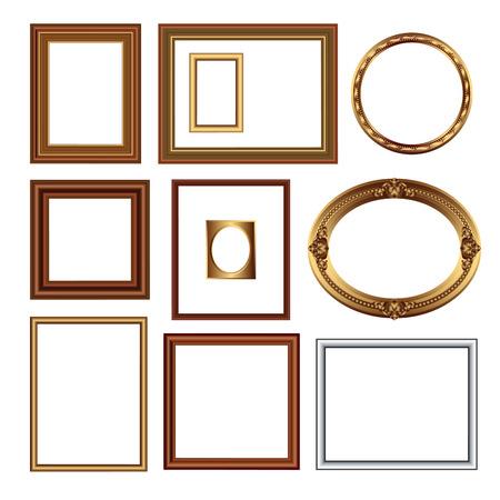 Set of frames for your pictures. Vector illustration Ilustração