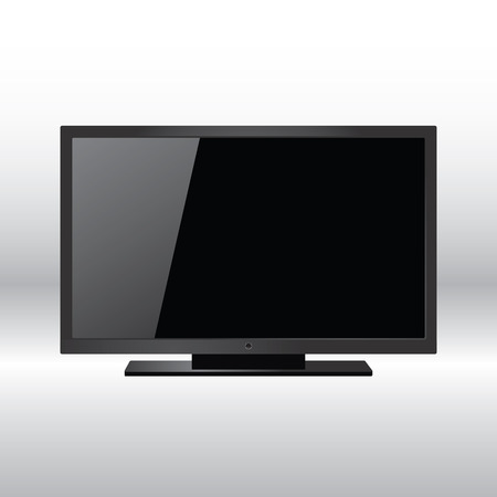 Realistic illustration of high definition TV screen Vector