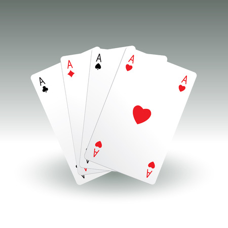 aces: Four aces playing cards. Vector illustration Illustration