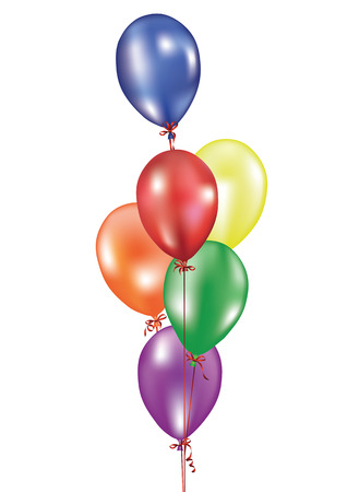 fest: Background with multicolored balloons. Vector illustration