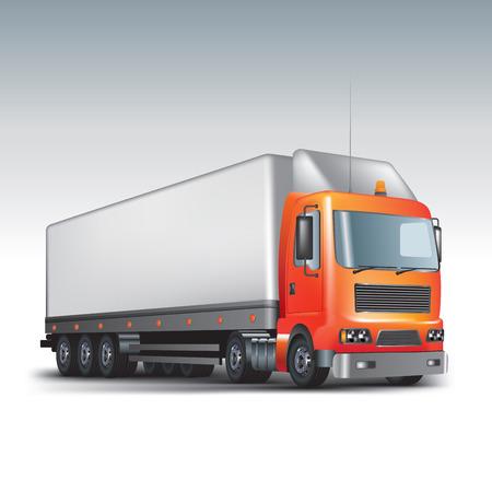 car carrier: Commercial delivery truck. Vector illustration