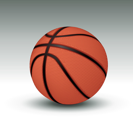 basket ball: Realistic basketball. Vector illustration