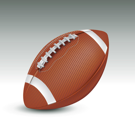 field goal: Realistic football ball. Vector illustration