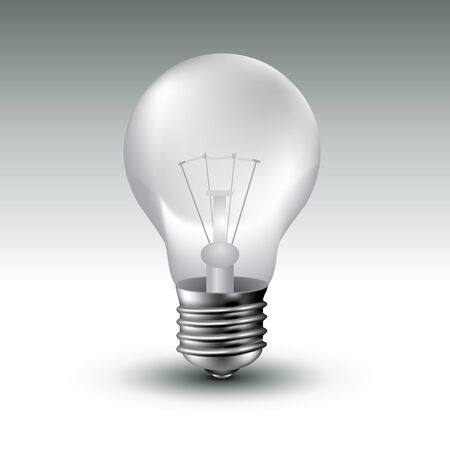 energysaving: Realistic  image of light bulb.