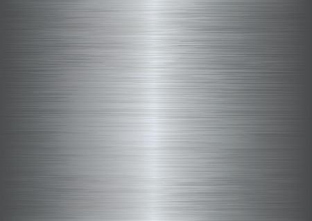cromo: Cepillado textura de metal de fondo abstracto. Vectores