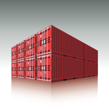 cargo container: Cargo containers  Vector illustration