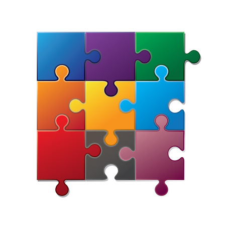 jig saw puzzle: Jigsaw puzzle piece. Vector illustration Illustration