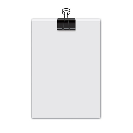 pocketbook: Stack white paper sheets illustration
