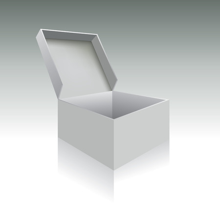 open gift box: Open box with realistic shadows illustration Illustration