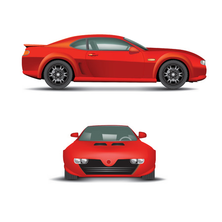 coupe: Red sports car