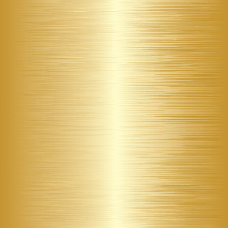 brushed gold: Gold shiny metal surface. Abstract background. Vector illustration Illustration