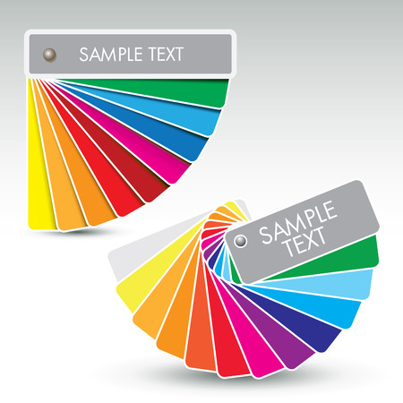 guides: Color guides with shades over white. Vector illustration Illustration