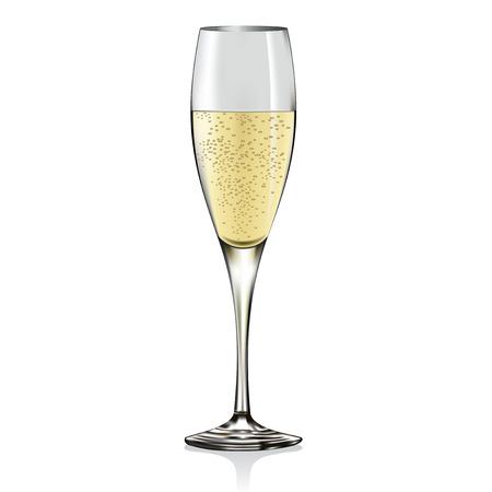 Glass of champagne.  Stock Illustratie