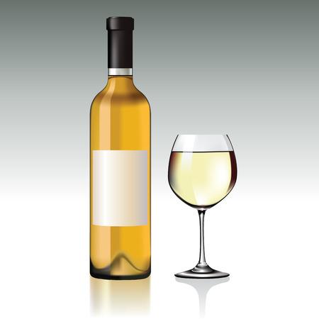 red wine bottle: Botella de vino rojo y el vidrio.