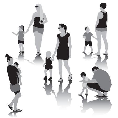 happy black man: Happy family together. Vector illustration Illustration