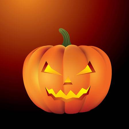 no teeth smile: Halloween pumpkin isolated on background. Vector illustration Illustration