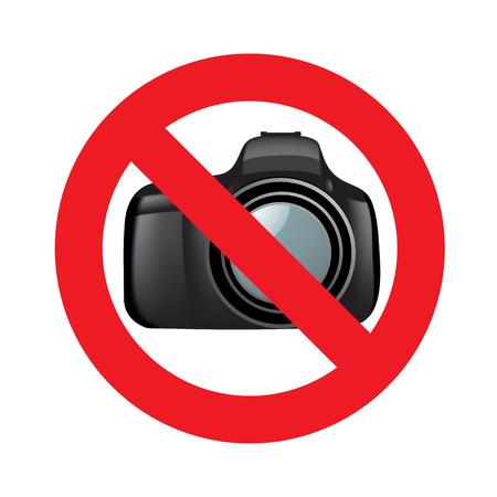 forbid: Photo forbid sign isolated on white background.  Illustration