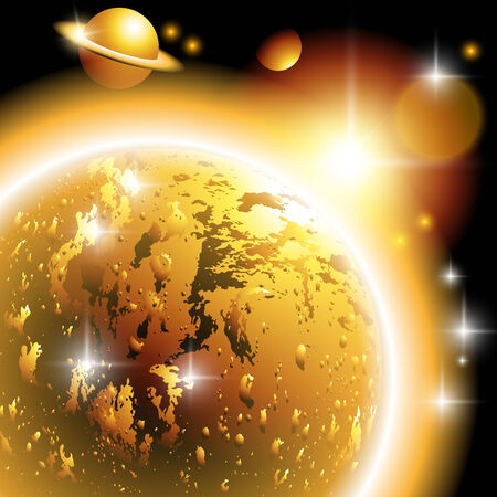 Stars, planets, comets, meteors, nebulae, constellations. Vector illustration Vector