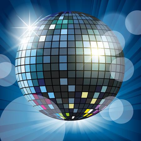 Mirror Ball: Mirror disco ball and reflection. Vector illustration Illustration