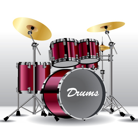 Drums isolated on background. Vector illustration Illustration
