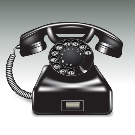 old phone: Old phone isolated on background. Vector illustration Illustration