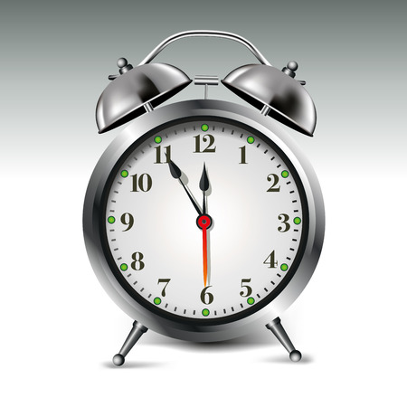 Alarm clock isolated on background. Vector illustration Vector